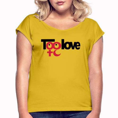 toolove cm - Maglietta da donna con risvolti