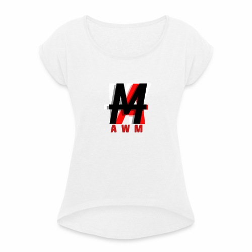 AWM Logo T-Shirt (WOMEN) - Women's T-Shirt with rolled up sleeves