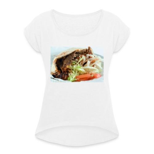 kebab trøje - Dame T-shirt med rulleærmer