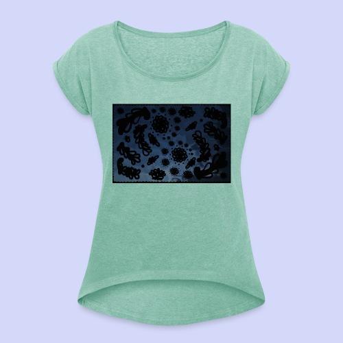 late night doodle - Female Shirt - Dame T-shirt med rulleærmer