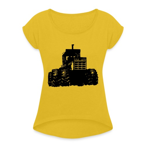 IH 4WD Tractor - Women's T-Shirt with rolled up sleeves