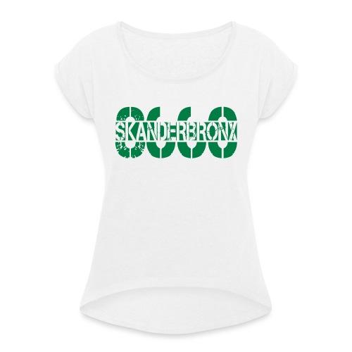 SKANDERBRONX - Dame T-shirt med rulleærmer