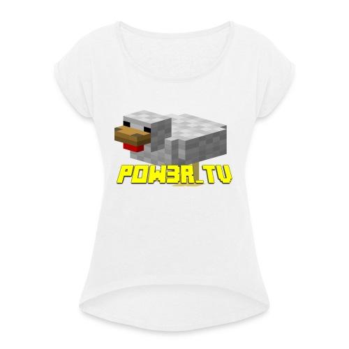 POW3R-GAIZ - Maglietta da donna con risvolti