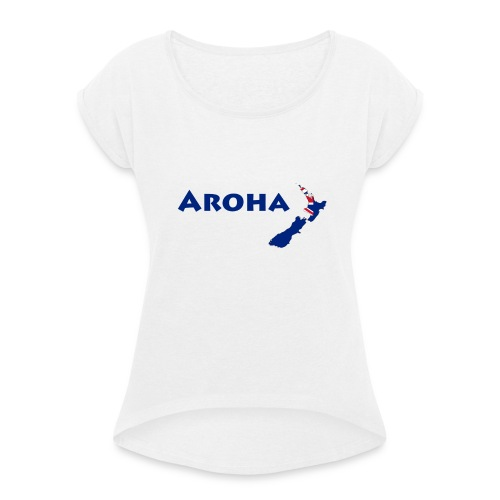 Aroha - Sport - Frauen T-Shirt mit gerollten Ärmeln