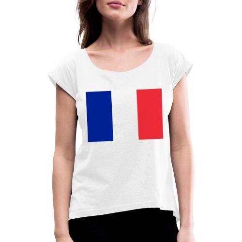 France - T-shirt à manches retroussées Femme
