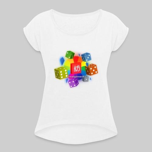 Lancé de dés au casino - T-shirt à manches retroussées Femme