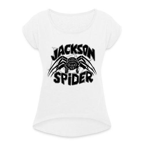 jackson spreadshirt - Frauen T-Shirt mit gerollten Ärmeln
