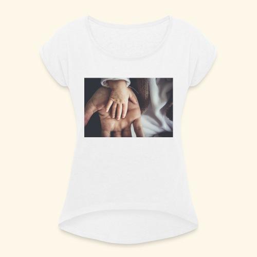 Hände - Frauen T-Shirt mit gerollten Ärmeln