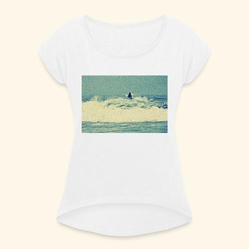 surf2 - T-shirt à manches retroussées Femme