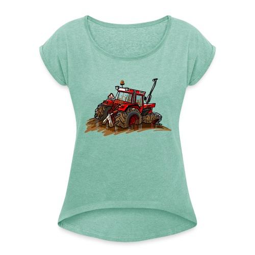 IH in de blub - Vrouwen T-shirt met opgerolde mouwen