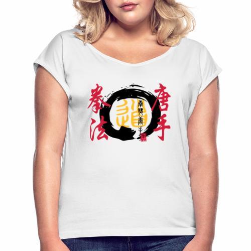 enso karatekempo - Frauen T-Shirt mit gerollten Ärmeln