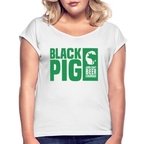 BlackPig Horizontal Vert - T-shirt à manches retroussées Femme