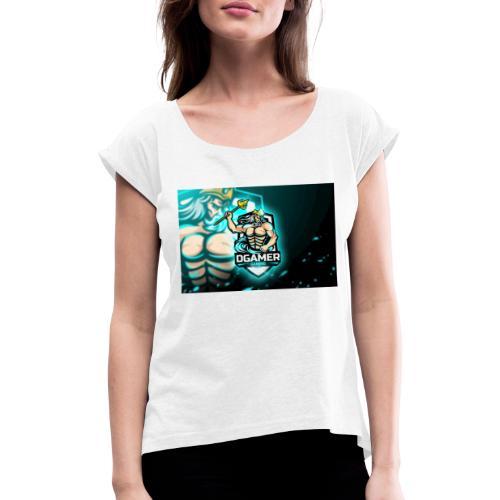 8251831F EA3A 4726 A475 A5510CDECB5A - T-shirt med upprullade ärmar dam
