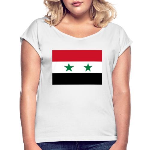 syrien - Frauen T-Shirt mit gerollten Ärmeln