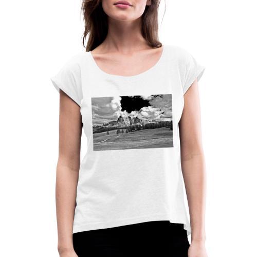 Seiser Alm - Frauen T-Shirt mit gerollten Ärmeln