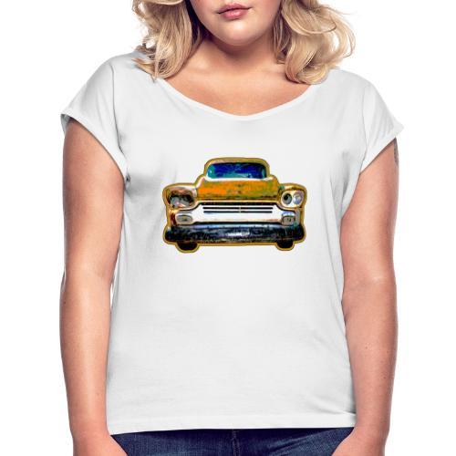Car - Frauen T-Shirt mit gerollten Ärmeln