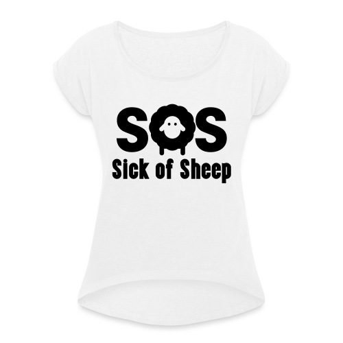 SOS - Women's T-Shirt with rolled up sleeves