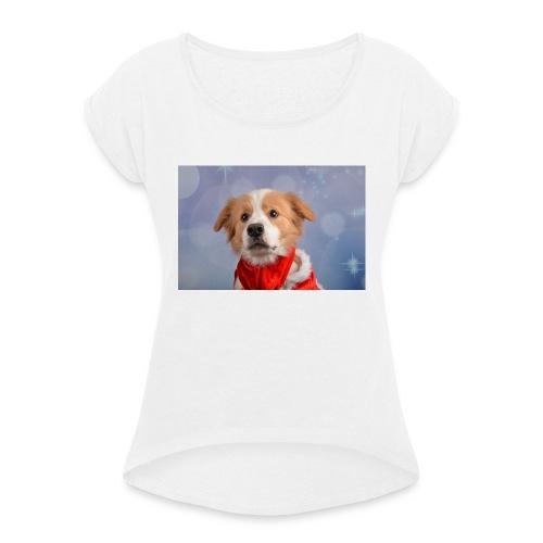 DSC_2040-jpg - Vrouwen T-shirt met opgerolde mouwen