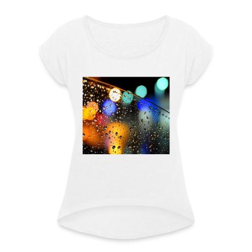 Abstract - Camiseta con manga enrollada mujer