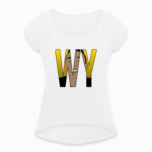 WaaromYannick Regular T-Shirt - WY - Vrouwen T-shirt met opgerolde mouwen