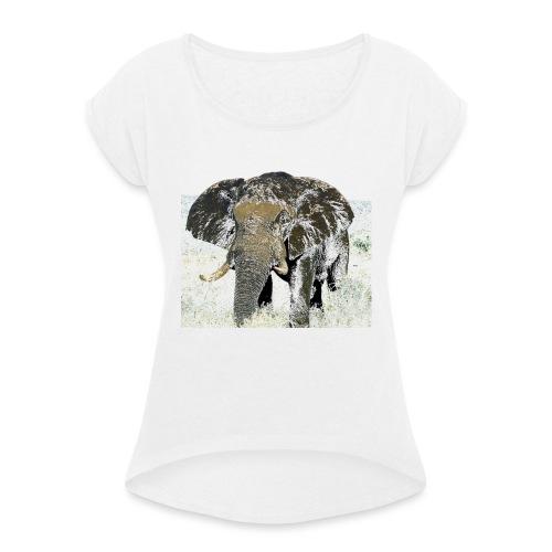 Elephant - Frauen T-Shirt mit gerollten Ärmeln