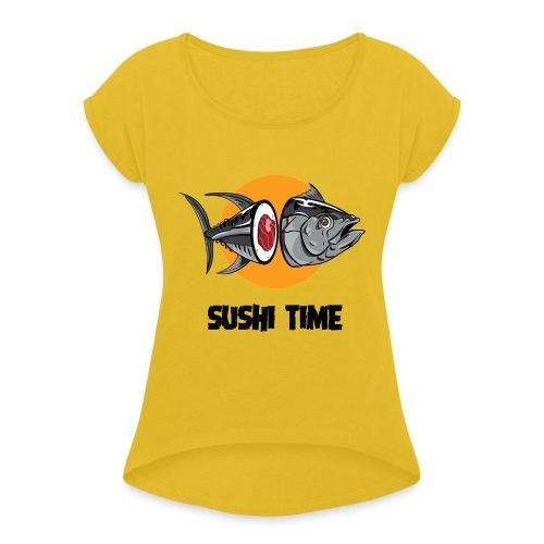 SUSHI TIME-tonno-n - Maglietta da donna con risvolti