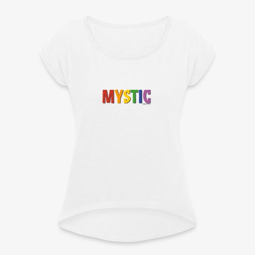 Mystic Pride (Rainbow) - Women's T-Shirt with rolled up sleeves