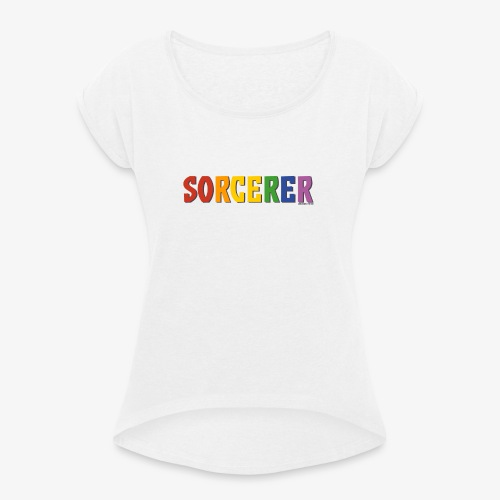 Sorcerer Pride (Rainbow) - Women's T-Shirt with rolled up sleeves