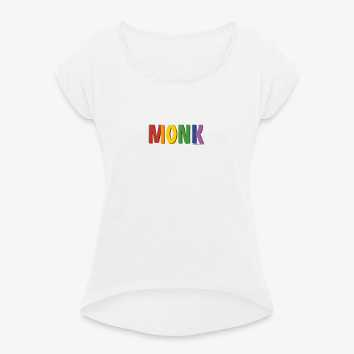 Monk Pride (Rainbow) - Women's T-Shirt with rolled up sleeves