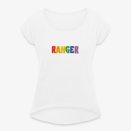 Ranger Pride (Rainbow) - Women's T-Shirt with rolled up sleeves