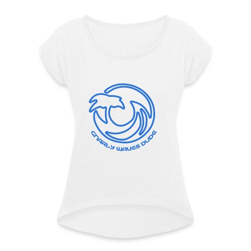 gnarly af sweather - Vrouwen T-shirt met opgerolde mouwen