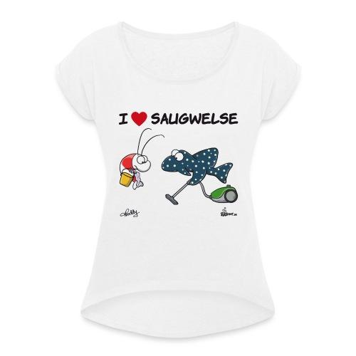 Saugwels - Frauen T-Shirt mit gerollten Ärmeln