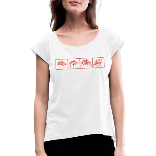 MILK - Frauen T-Shirt mit gerollten Ärmeln