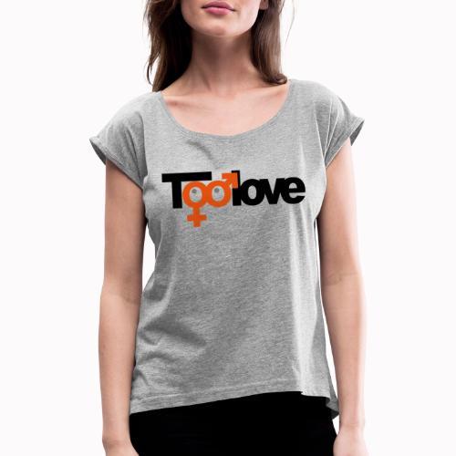 toolove mf - Maglietta da donna con risvolti
