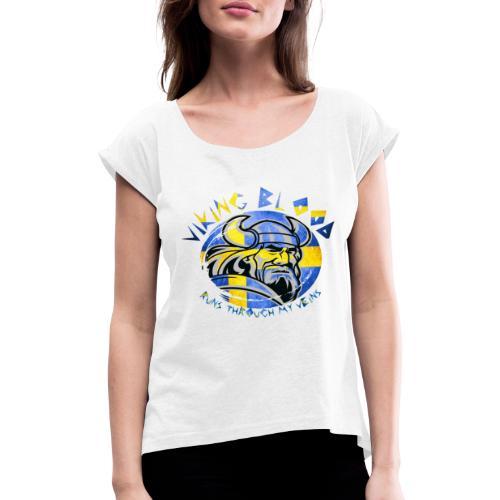 viking2 - T-shirt med upprullade ärmar dam