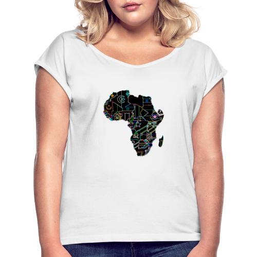 Afrique Néons - T-shirt à manches retroussées Femme