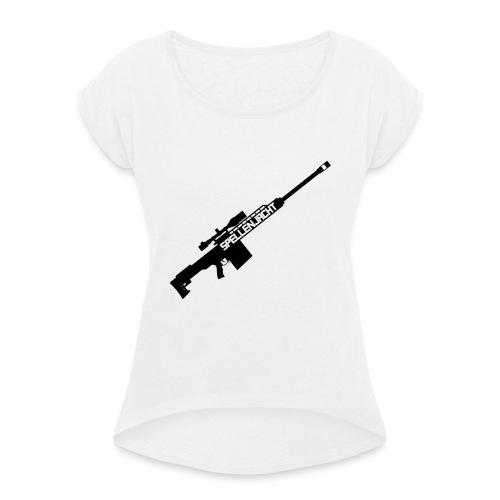 Het Jacht Geweer - Vrouwen T-shirt met opgerolde mouwen