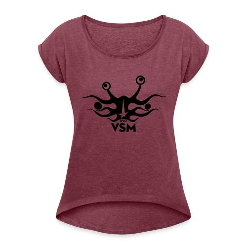 Kerk van het Vliegend Spaghettimonster - Vrouwen T-shirt met opgerolde mouwen