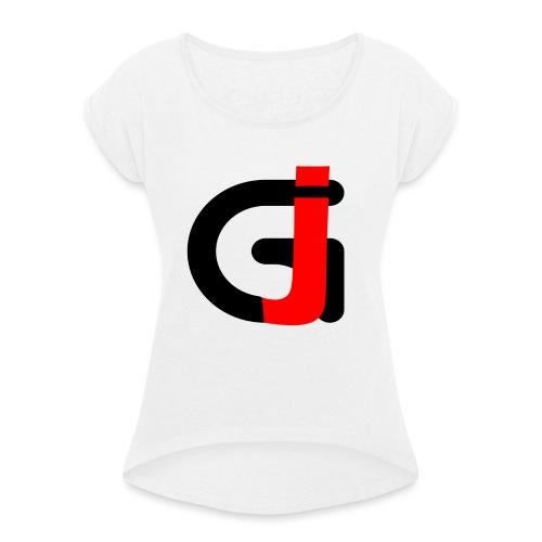 Teddybeer - Vrouwen T-shirt met opgerolde mouwen