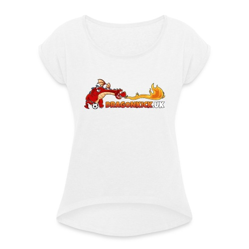 DRAGONKICK.UK - Women's T-Shirt with rolled up sleeves