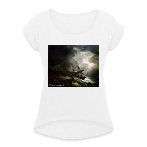 T-shirt French marquis Storm - T-shirt à manches retroussées Femme