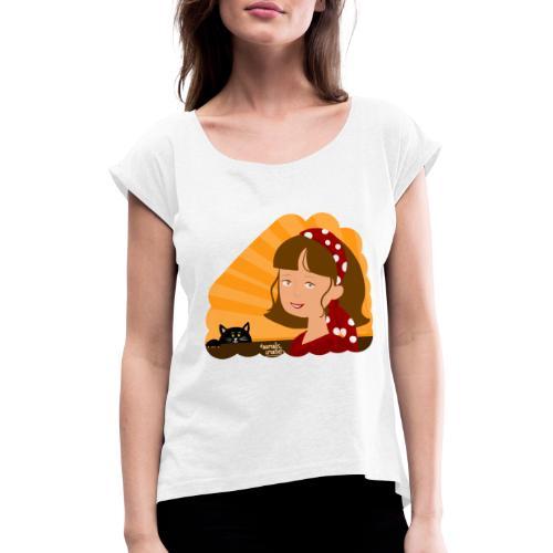 Fille d'été - T-shirt à manches retroussées Femme