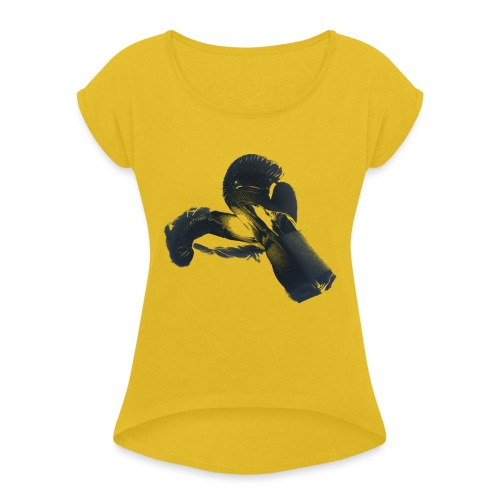 boxing gloves (Saw) - Women's T-Shirt with rolled up sleeves