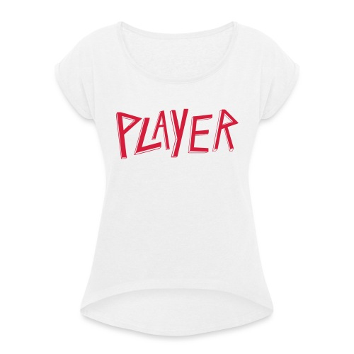 player Slayer - T-shirt à manches retroussées Femme