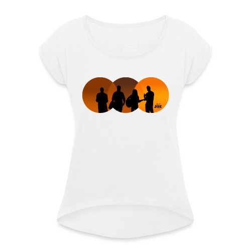 Motiv Cheerio Joe happy ends - Frauen T-Shirt mit gerollten Ärmeln