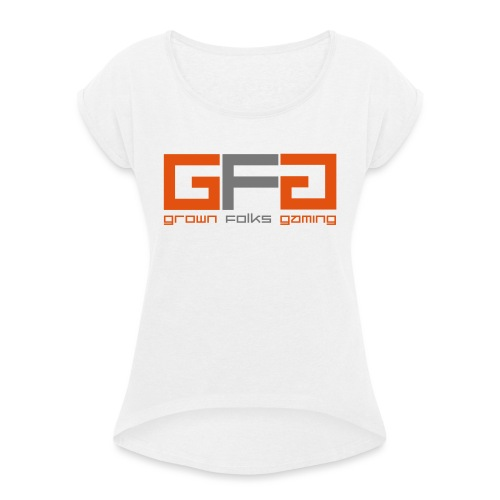 Grown Folks Gaming Official Tshirt - Women's T-Shirt with rolled up sleeves