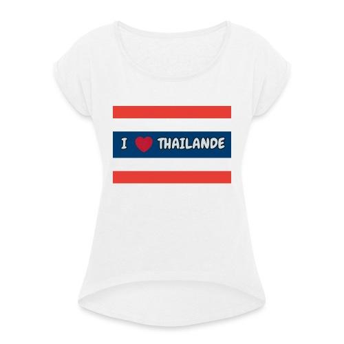 PhotoText 1522628401354 1 - T-shirt à manches retroussées Femme