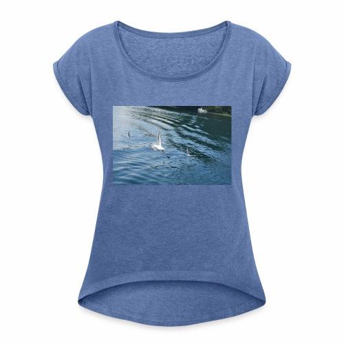un Gabbiano che vola - Maglietta da donna con risvolti