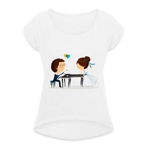 Nuestra Boda - Camiseta con manga enrollada mujer