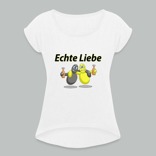 Dortmunder Fußballverein - Frauen T-Shirt mit gerollten Ärmeln